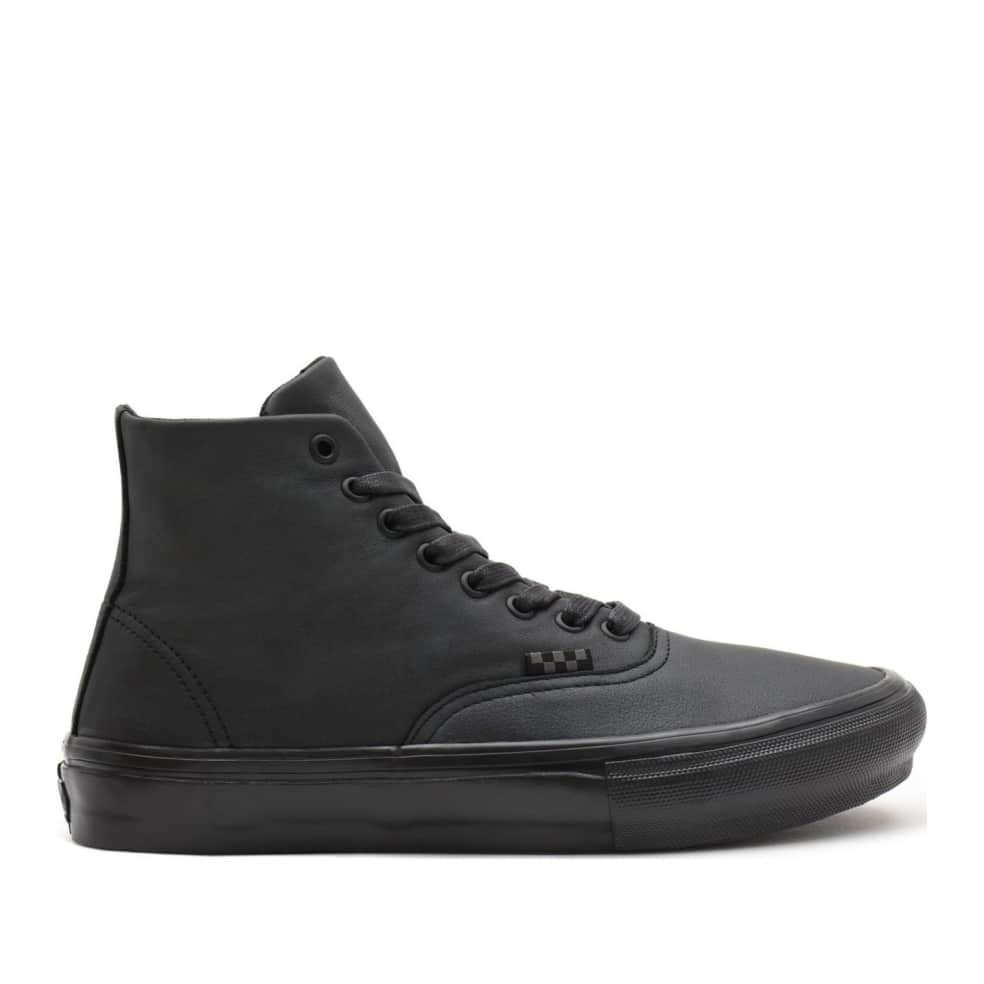 Vans Pearl Leather Skate Authentic High Shoes - Black | Shoes by Vans 1