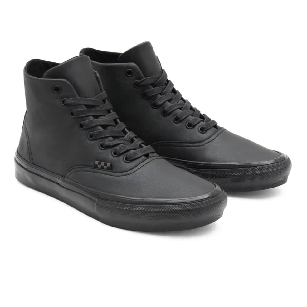 Vans Pearl Leather Skate Authentic High Shoes - Black | Shoes by Vans 3