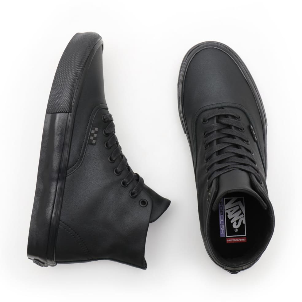 Vans Pearl Leather Skate Authentic High Shoes - Black | Shoes by Vans 2