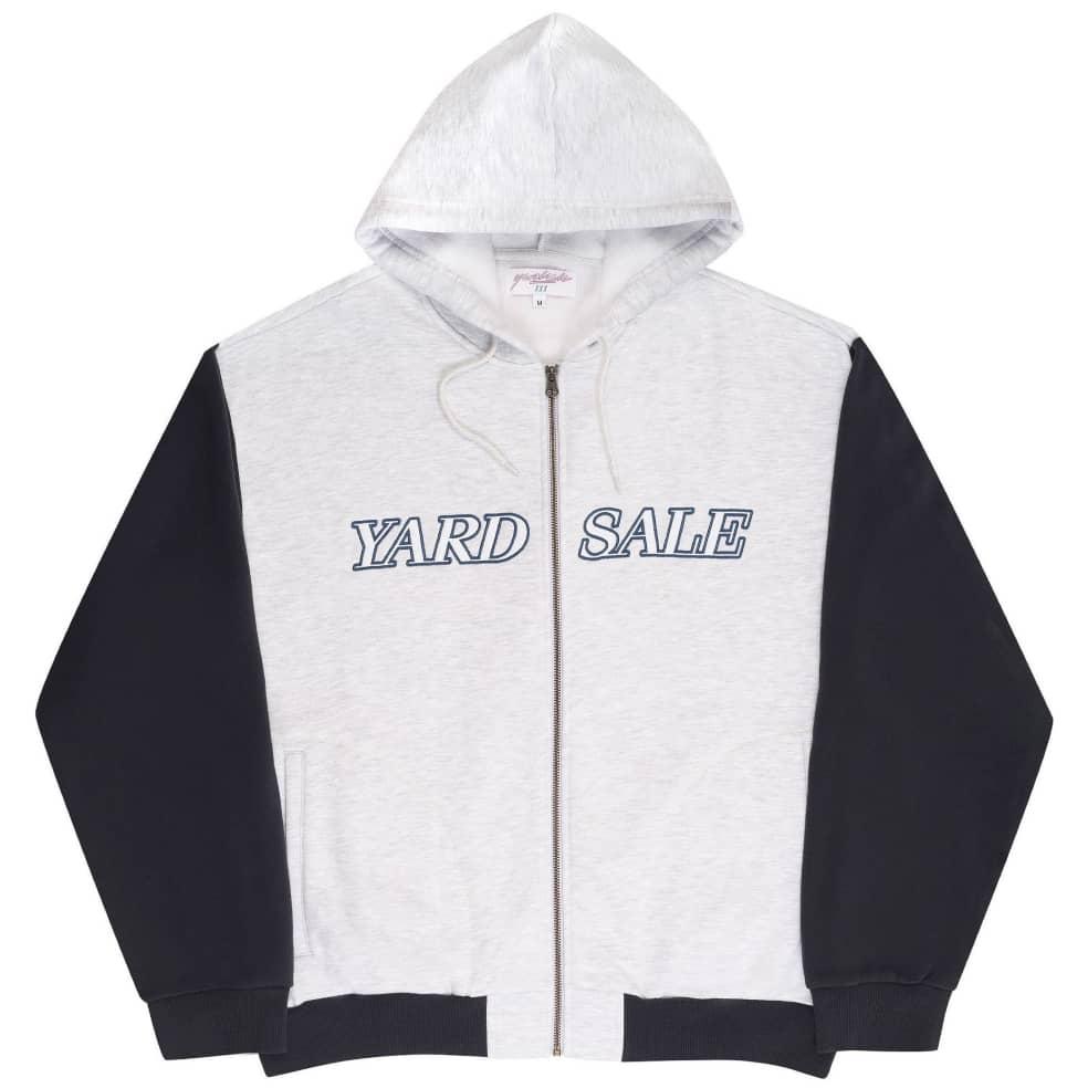 Yardsale Pesci Hoodie - Grey / Washed Navy   Hoodie by Yardsale 1