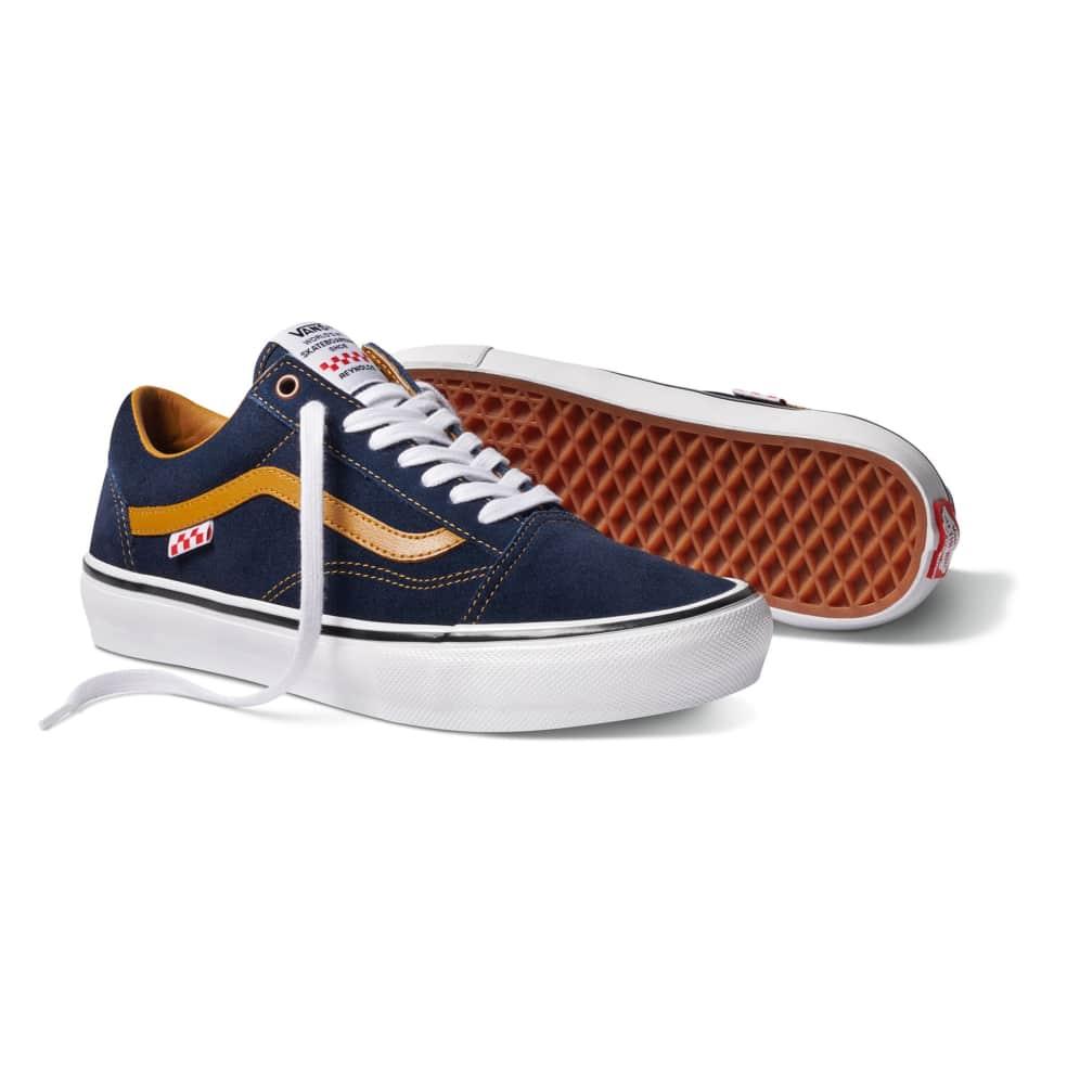 Vans Reynolds Skate Old Skool Shoes - Navy / Golden Brown   Shoes by Vans 2
