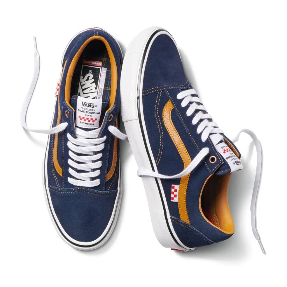 Vans Reynolds Skate Old Skool Shoes - Navy / Golden Brown   Shoes by Vans 3