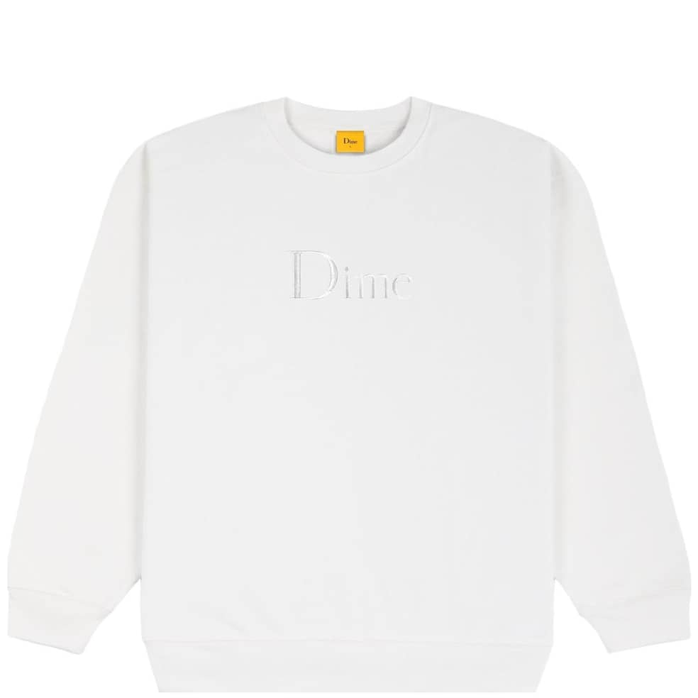 Dime Classic Embroidered Crewneck - White | Sweatshirt by Dime 1