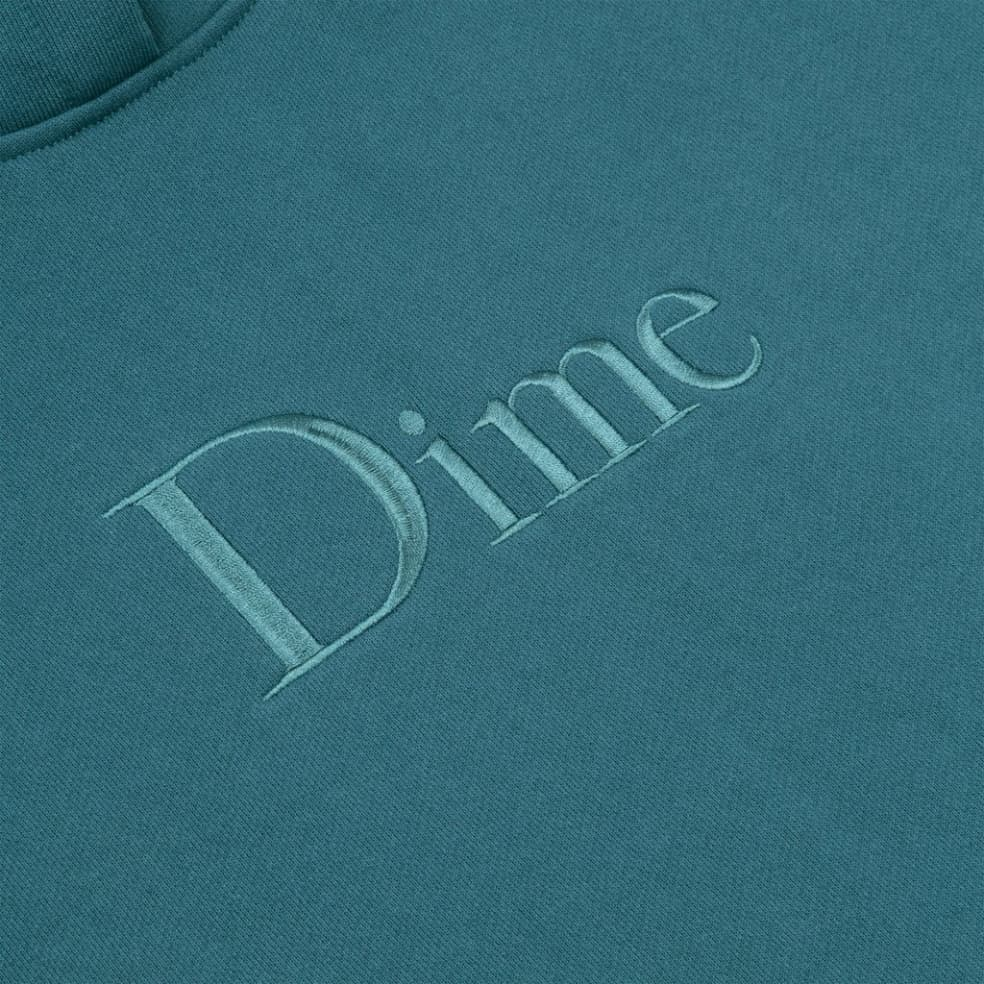 Dime Classic Embroidered Hoodie - Real Teal | Hoodie by Dime 2