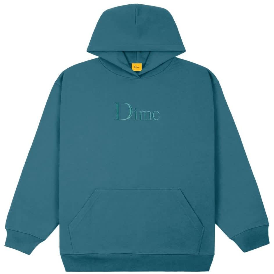 Dime Classic Embroidered Hoodie - Real Teal | Hoodie by Dime 1