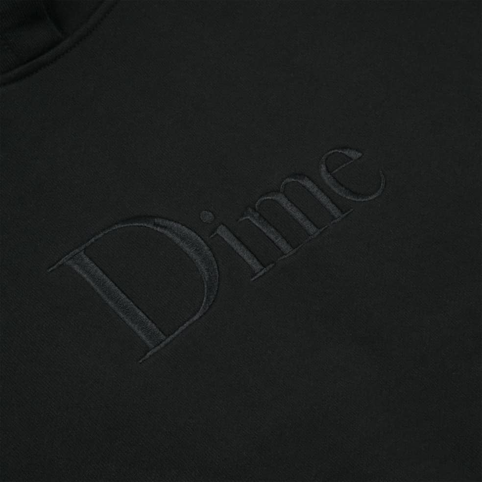 Dime Classic Embroidered Hoodie - Black | Hoodie by Dime 2