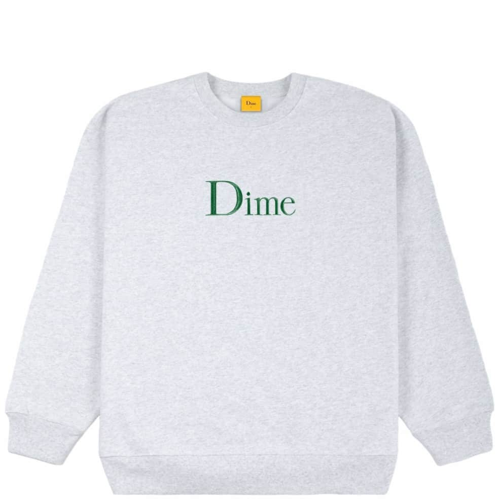 Dime Classic Embroidered Crewneck - Ash | Sweatshirt by Dime 1