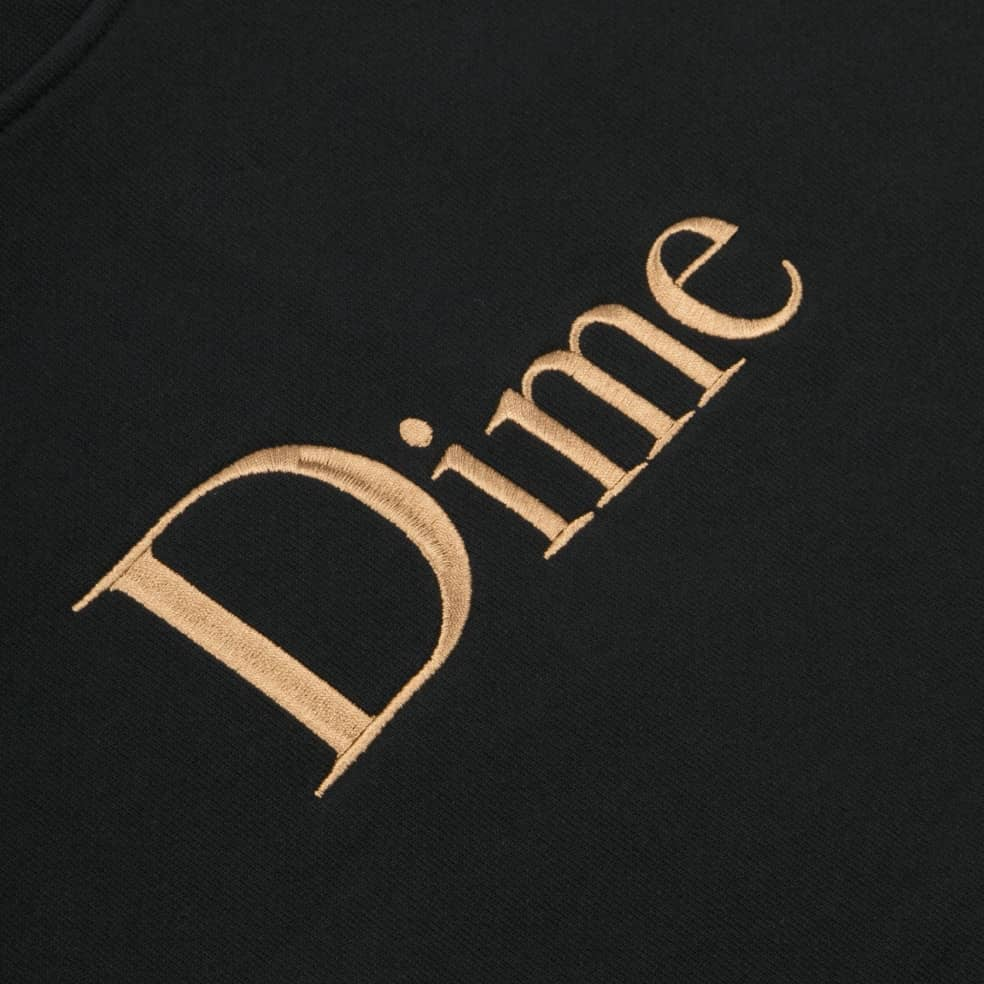 Dime Classic Embroidered Crewneck - Black | Sweatshirt by Dime 2