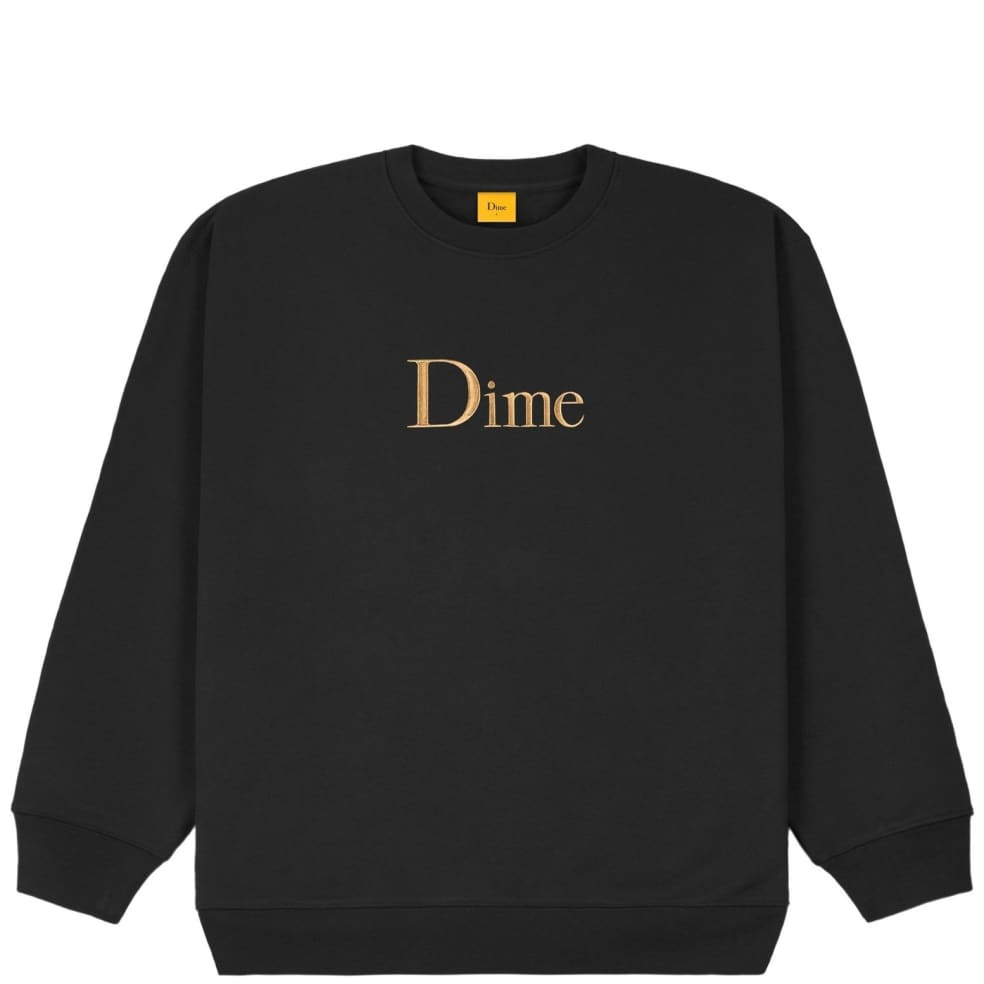 Dime Classic Embroidered Crewneck - Black | Sweatshirt by Dime 1