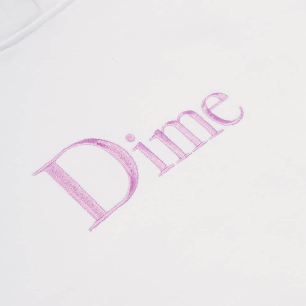 Dime Classic Embroidered Hoodie - White | Hoodie by Dime 2