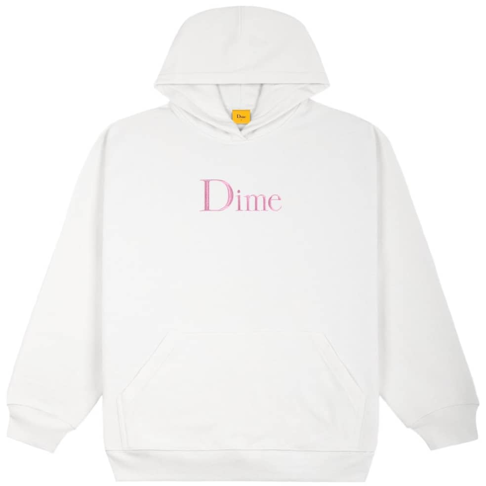 Dime Classic Embroidered Hoodie - White | Hoodie by Dime 1