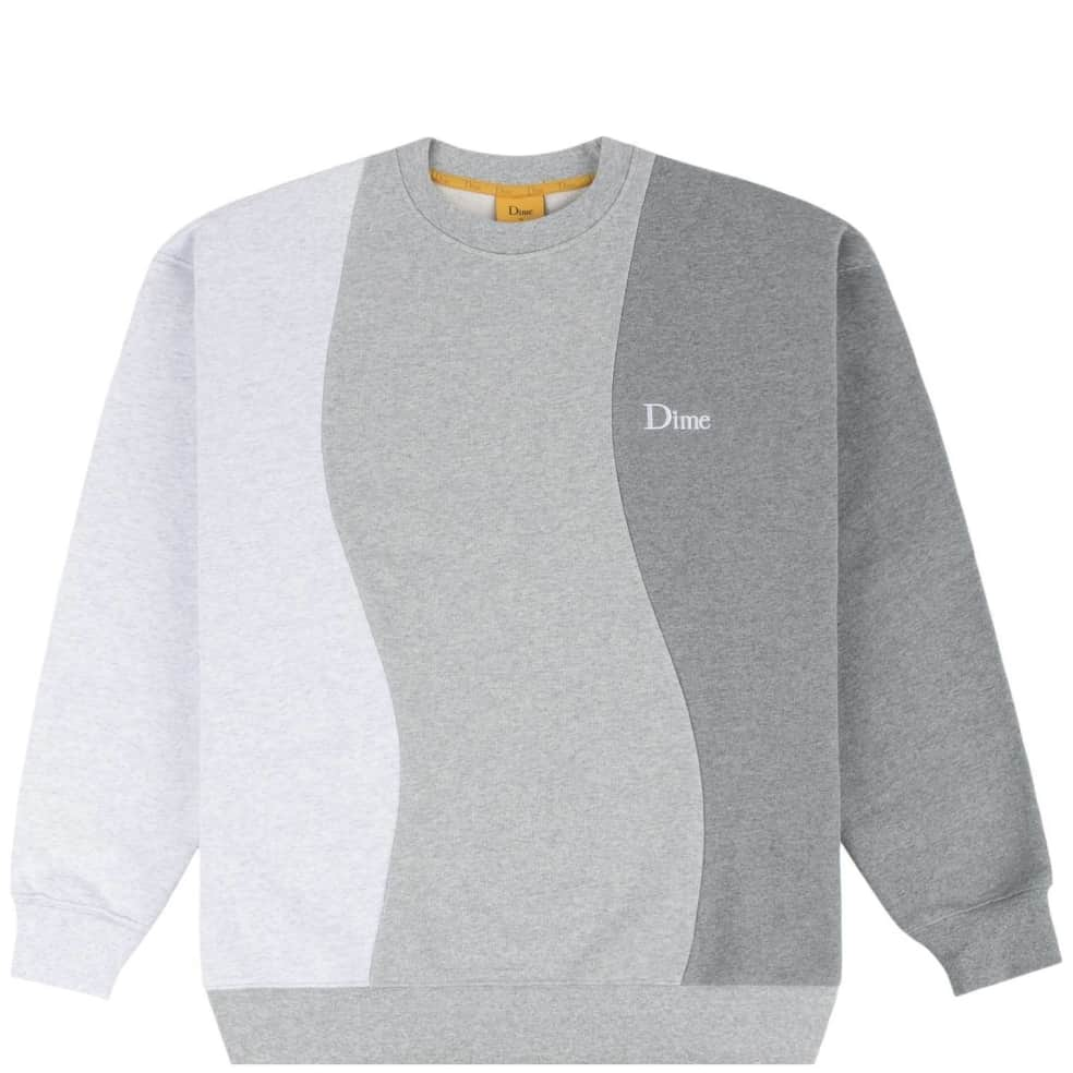 Dime Wavy 3-Tone Crewneck - Heather | Sweatshirt by Dime 1