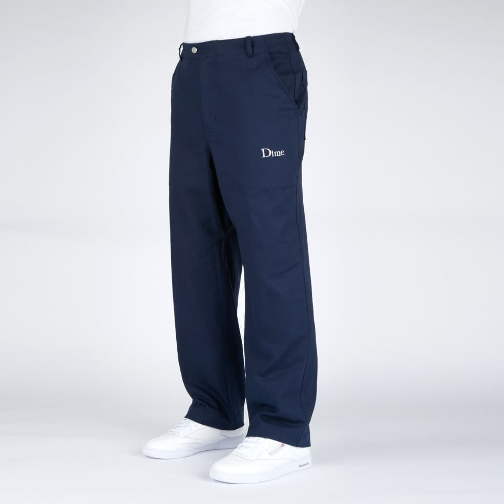 Dime Classic Chino Pants - Navy   Chinos by Dime 3