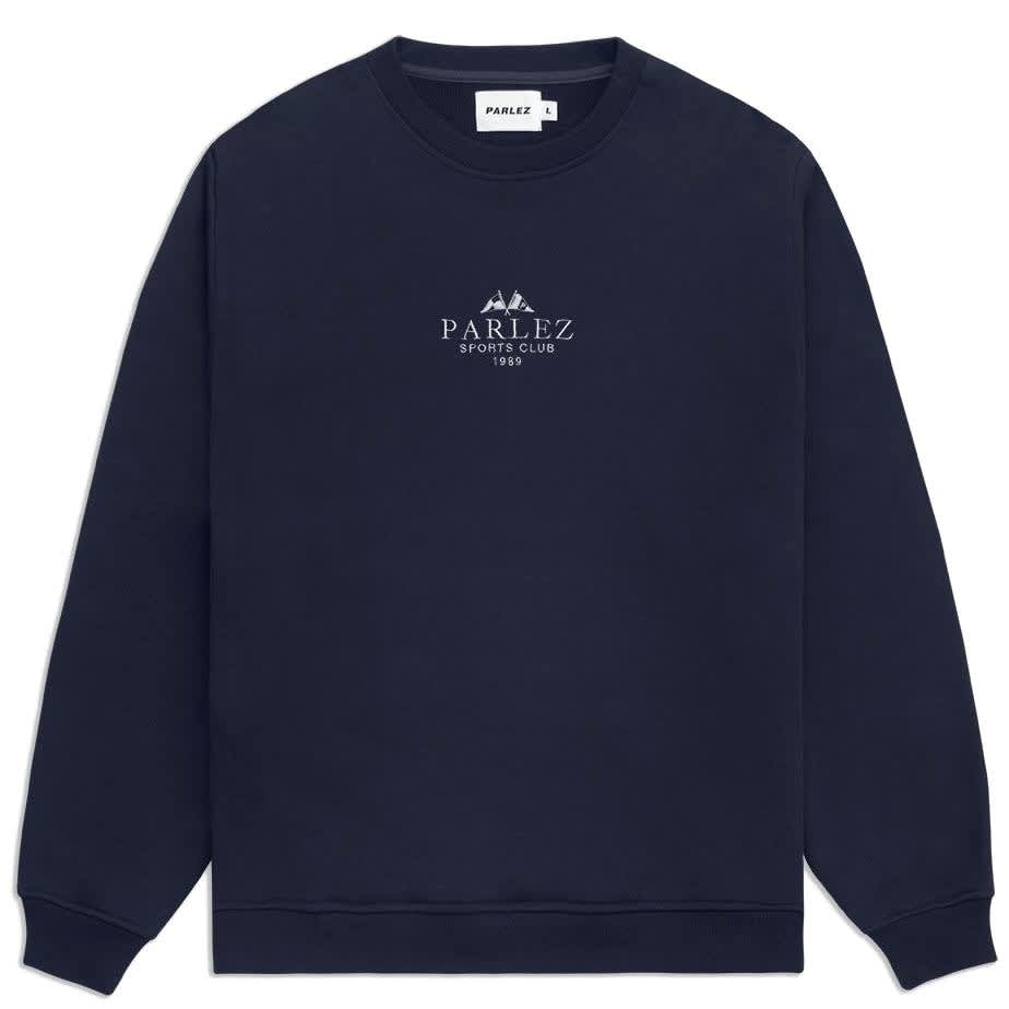 Parlez Sports Club Sweatshirt - Navy   Sweatshirt by Parlez Clothing 1
