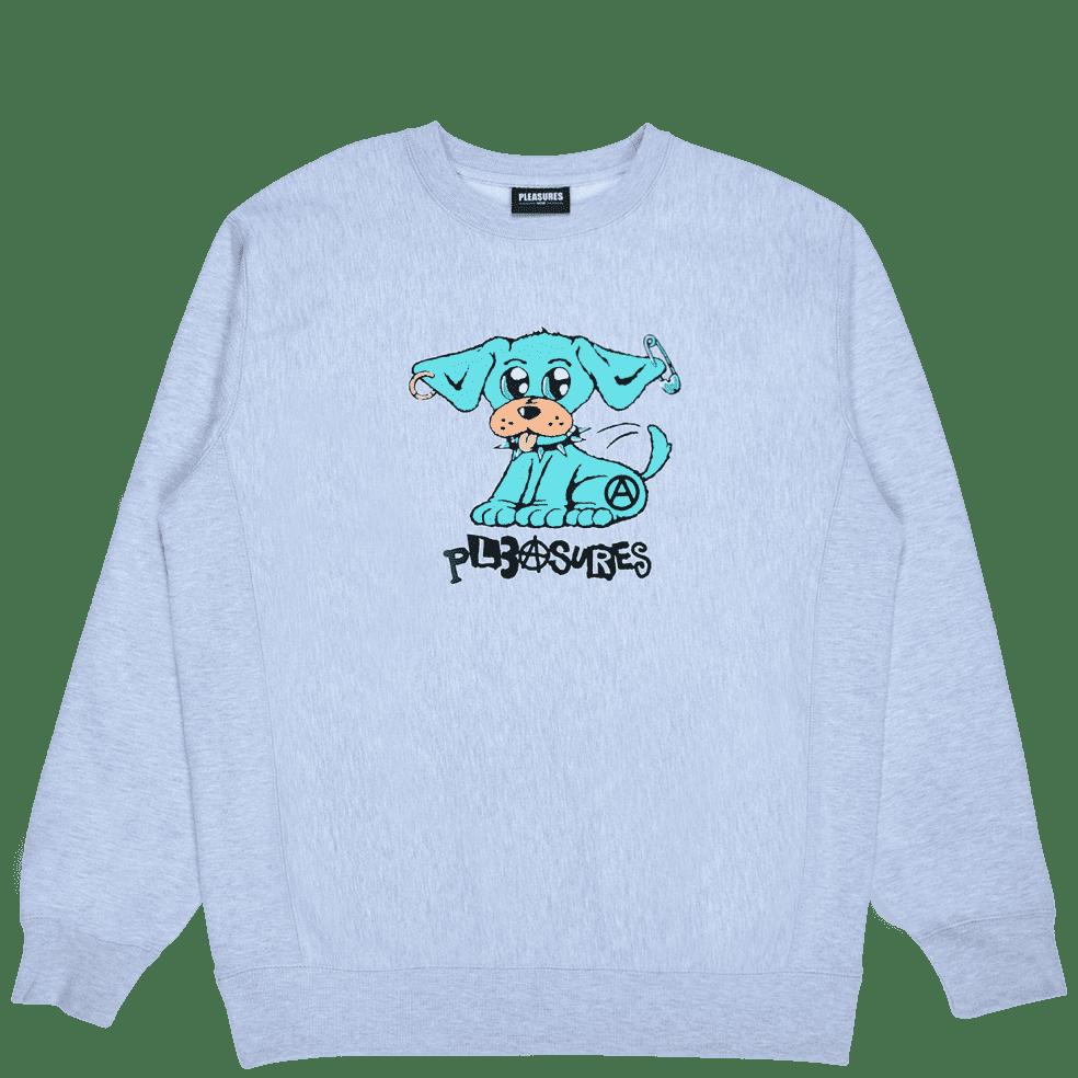 Pleasures Ruff Premium Crewneck - Heather Grey | Sweatshirt by Pleasures 1