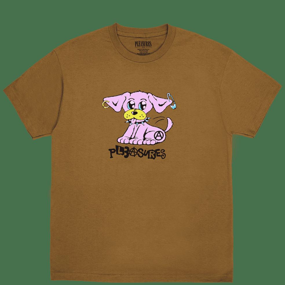 Pleasures Ruff T-Shirt - Brown | T-Shirt by Pleasures 1