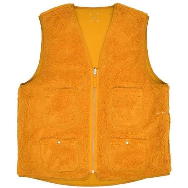 Pop Trading Company Harold Reversible Vest - Spruce Yellow | Gilet by Pop Trading Company 1