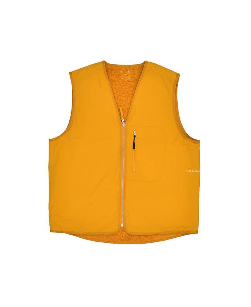 Pop Trading Company Harold Reversible Vest - Spruce Yellow | Gilet by Pop Trading Company 3