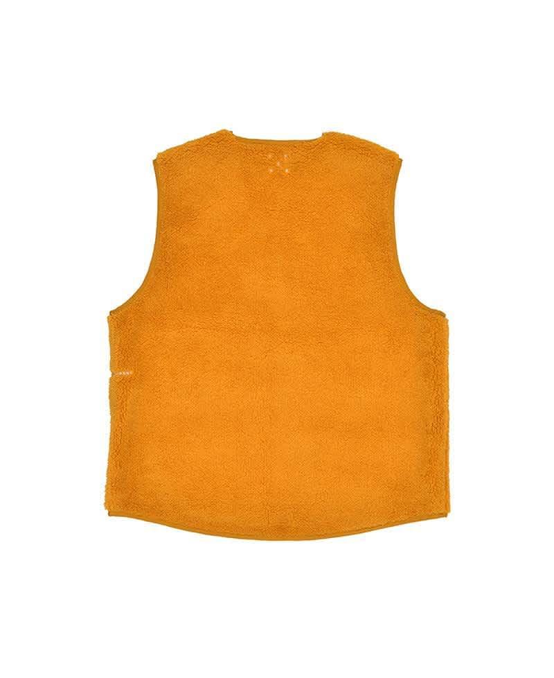 Pop Trading Company Harold Reversible Vest - Spruce Yellow | Gilet by Pop Trading Company 2