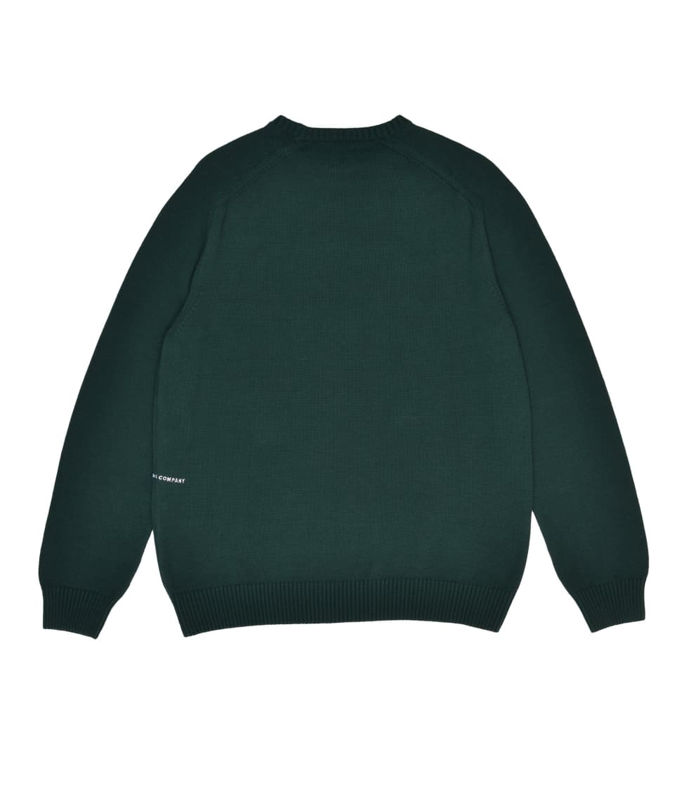Pop Trading Company Arch Knitted Crewneck - Bistro Green | Sweatshirt by Pop Trading Company 2