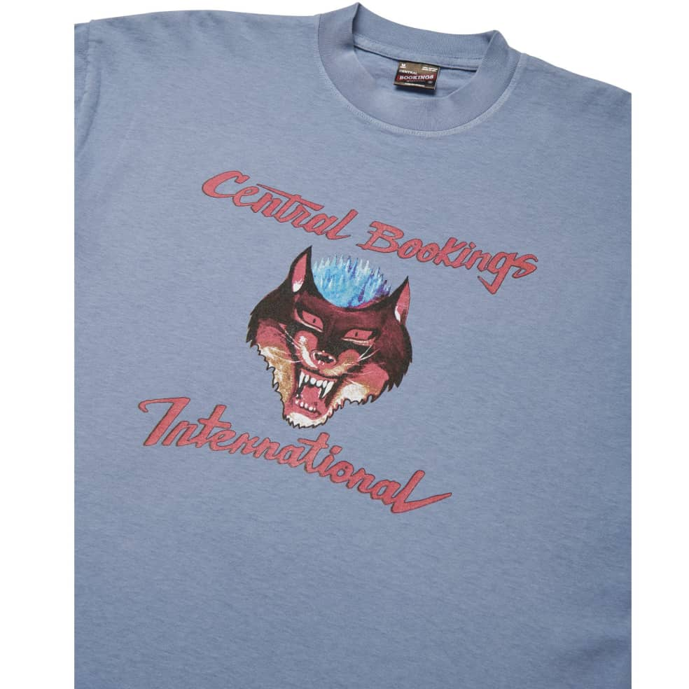 Central Bookings Intl. Psycho Wolf T-Shirt - Slate Blue | T-Shirt by Central Bookings Intl. 2