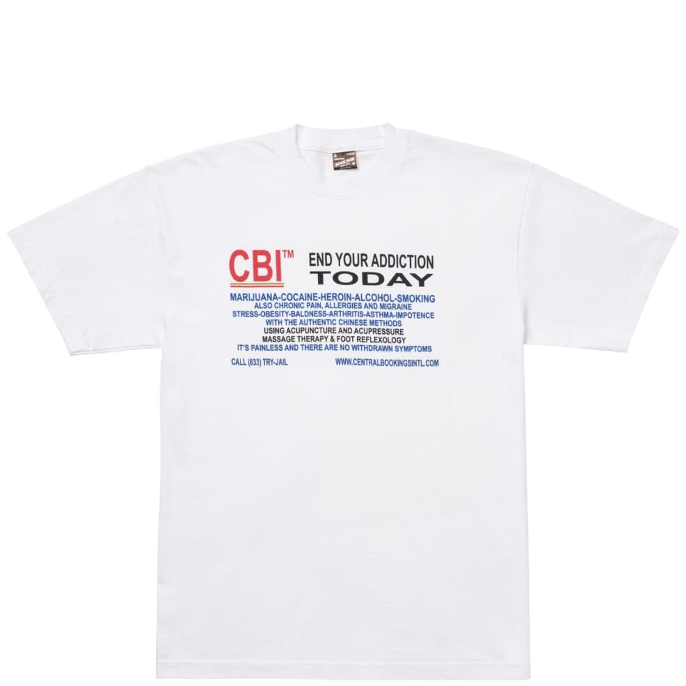 Central Bookings Intl. Treatment T-Shirt - White | T-Shirt by Central Bookings Intl. 1
