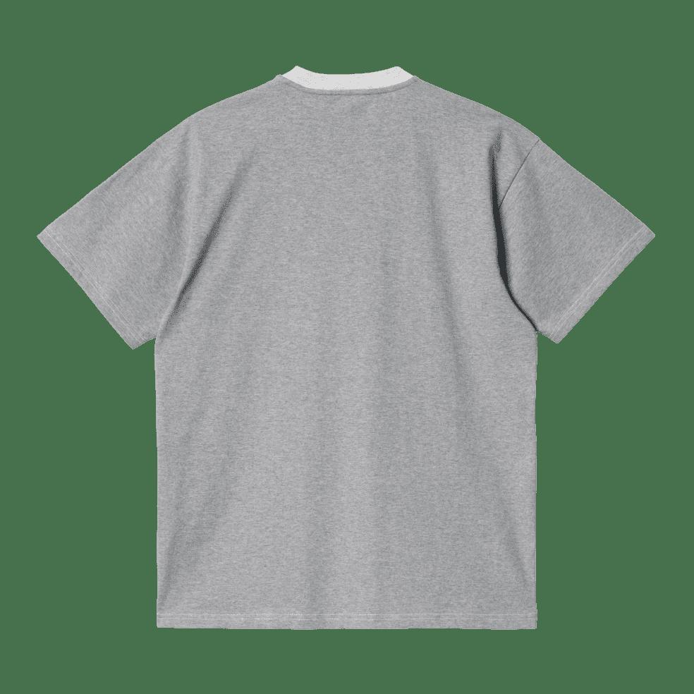 Carhartt WIP Tonare T-Shirt - Ash Heather / Grey Heather / Shiver   T-Shirt by Carhartt WIP 2