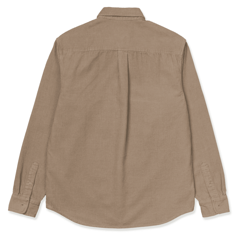 Carhartt WIP Madison Cord Shirt - Wall / Black | Shirt by Carhartt WIP 2