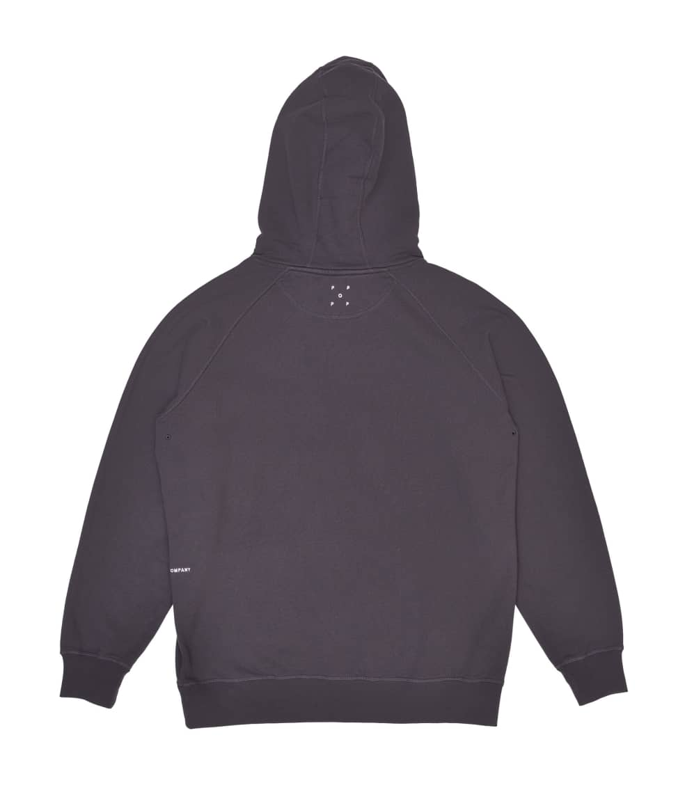 Pop Trading Company Arch Hooded Sweat - Anthracite   Hoodie by Pop Trading Company 2