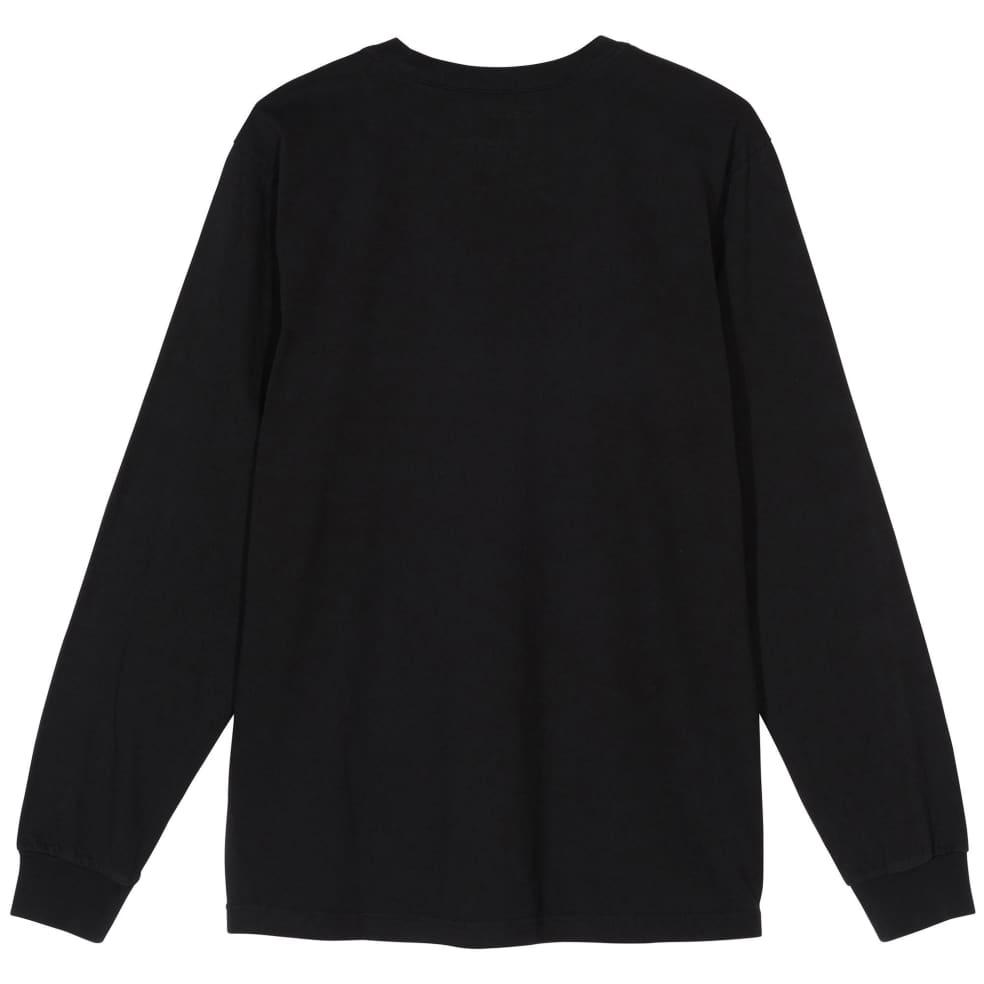 Stüssy Stock Logo Long Sleeve Shirt - Black | Longsleeve by Stüssy 2