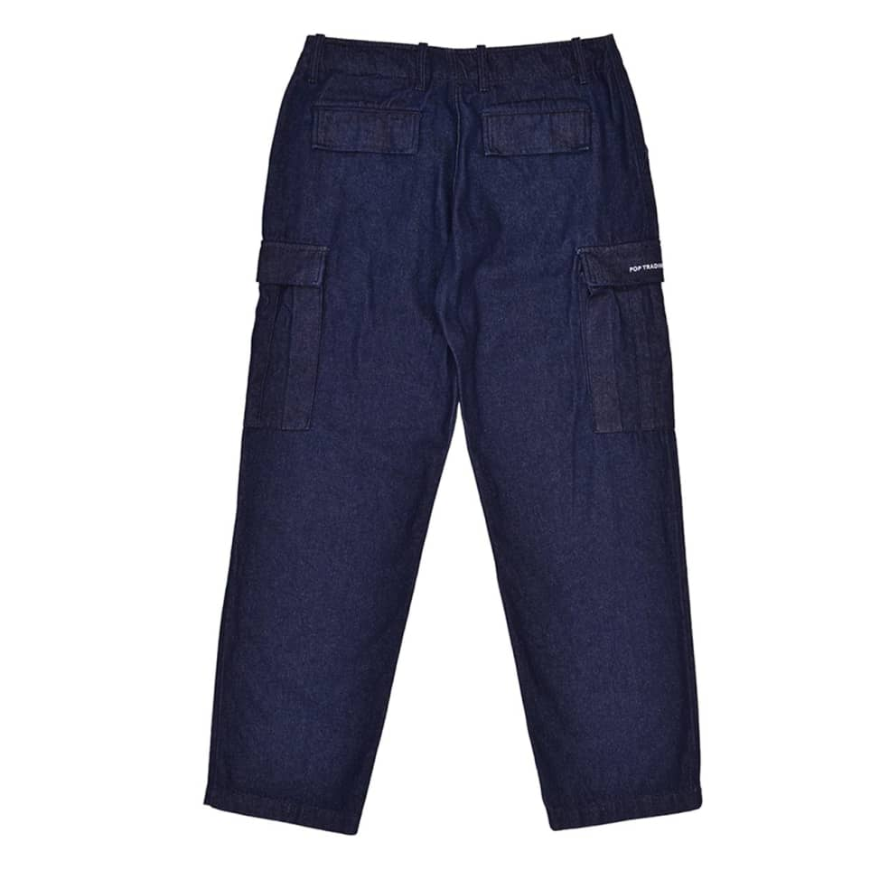 Pop Trading Company Denim Cargo Pants - Rinsed   Trousers by Pop Trading Company 2