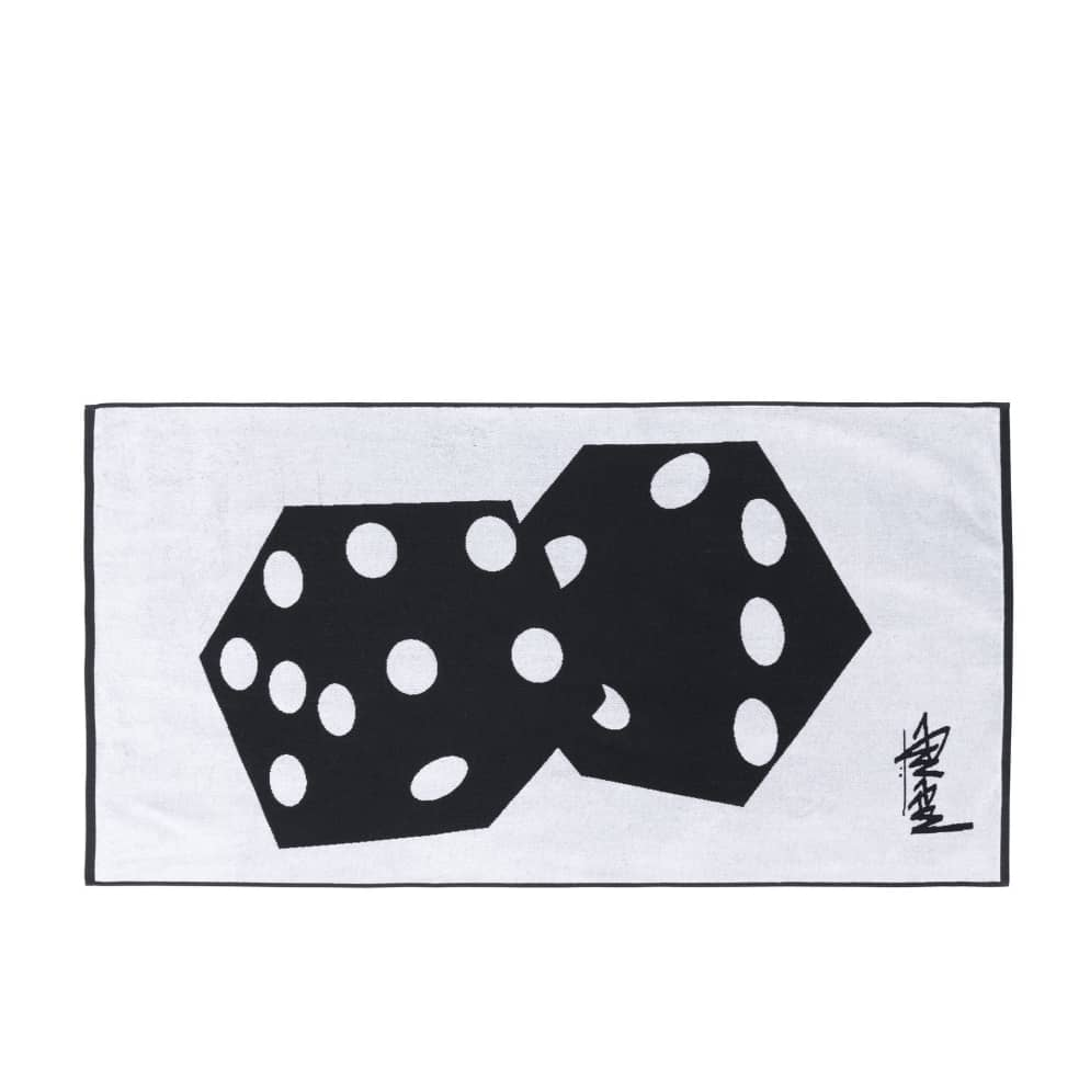 Stussy Dice Jacquard Beach Towel - Black   Giftables by Stüssy 2
