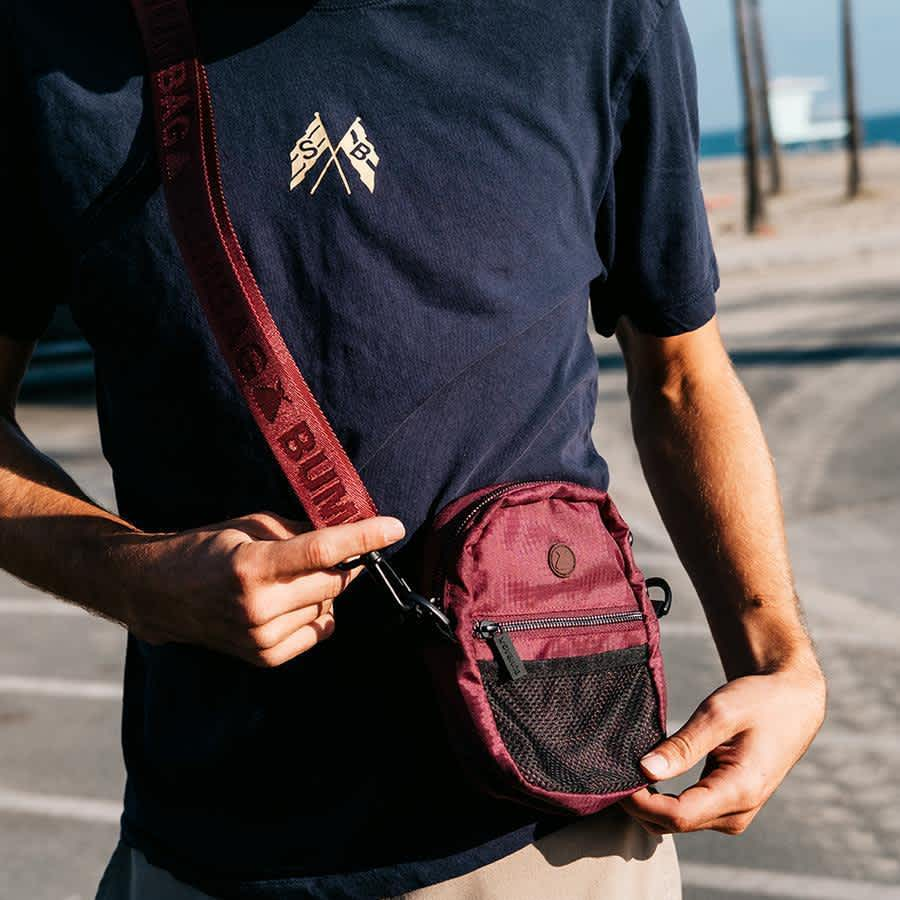 The BumBag Co Staple Compact Shoulder Bag - Maroon   Shoulder Bag by The Bumbag Co 3