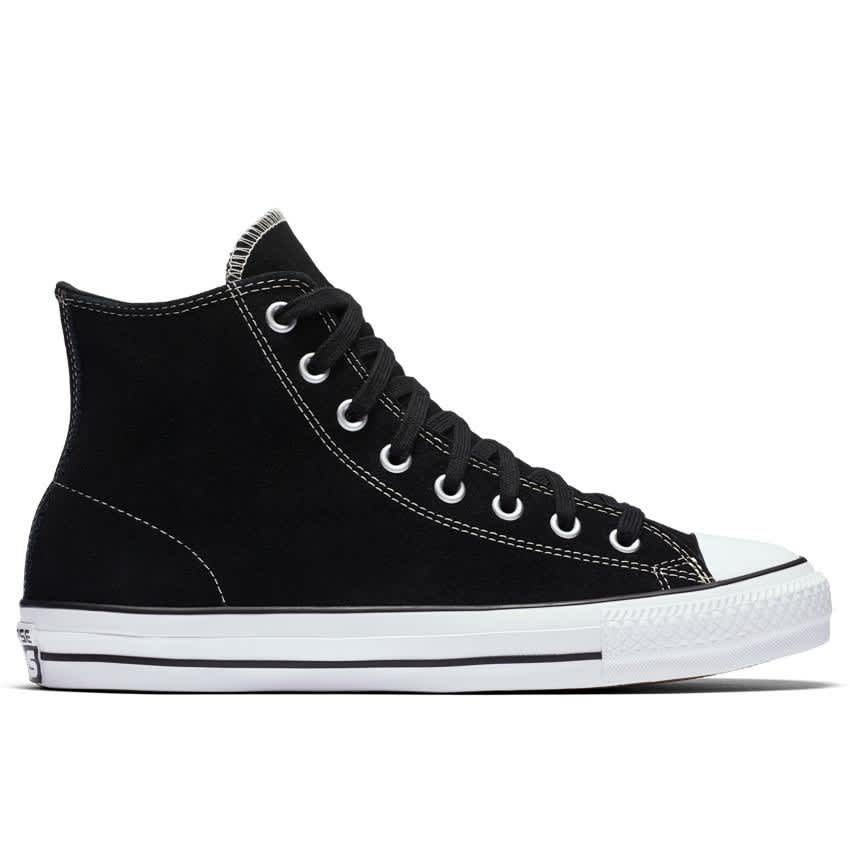 Converse Chuck Taylor All Star Pro High Top Shoes - Black/Black/White - Suede | Shoes by Converse 1