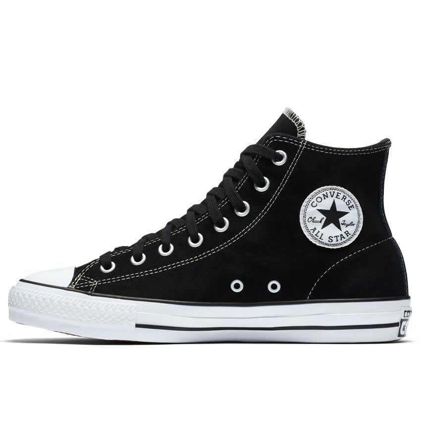 Converse Chuck Taylor All Star Pro High Top Shoes - Black/Black/White - Suede | Shoes by Converse 2
