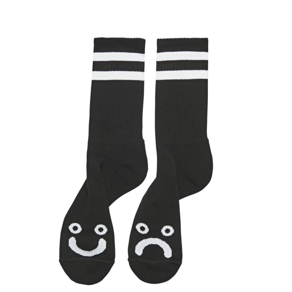 Polar Happy Sad Socks - Black   Socks by Polar Skate Co 1