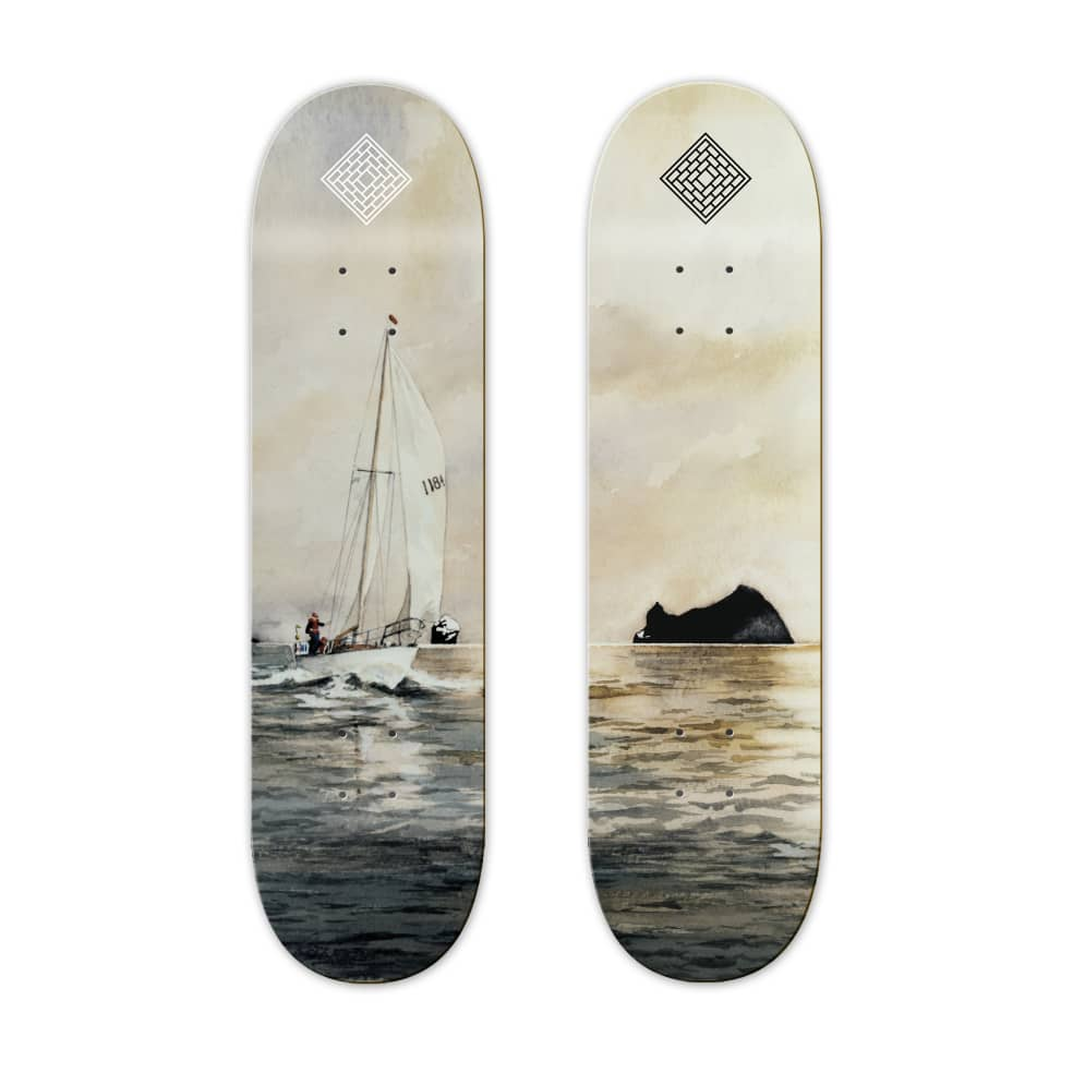"""ROCK - 8.125/8.5""""   Deck by The National Skateboard Co. 2"""