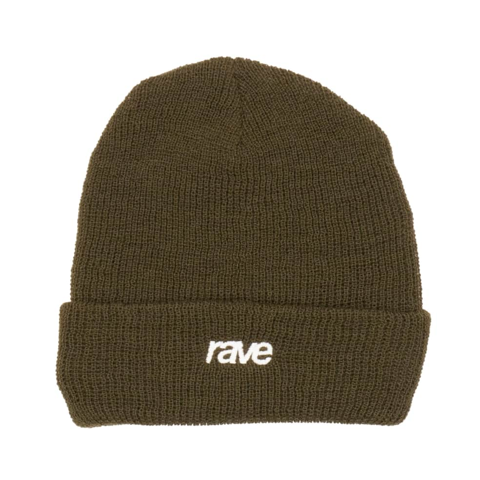 Rave Classic Logo Beanie - Olive   Beanie by Rave Skateboards 1