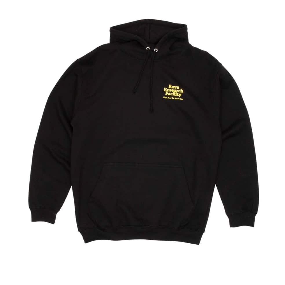 Rave Research Facility Hooded Sweatshirt - Black | Hoodie by Rave Skateboards 2