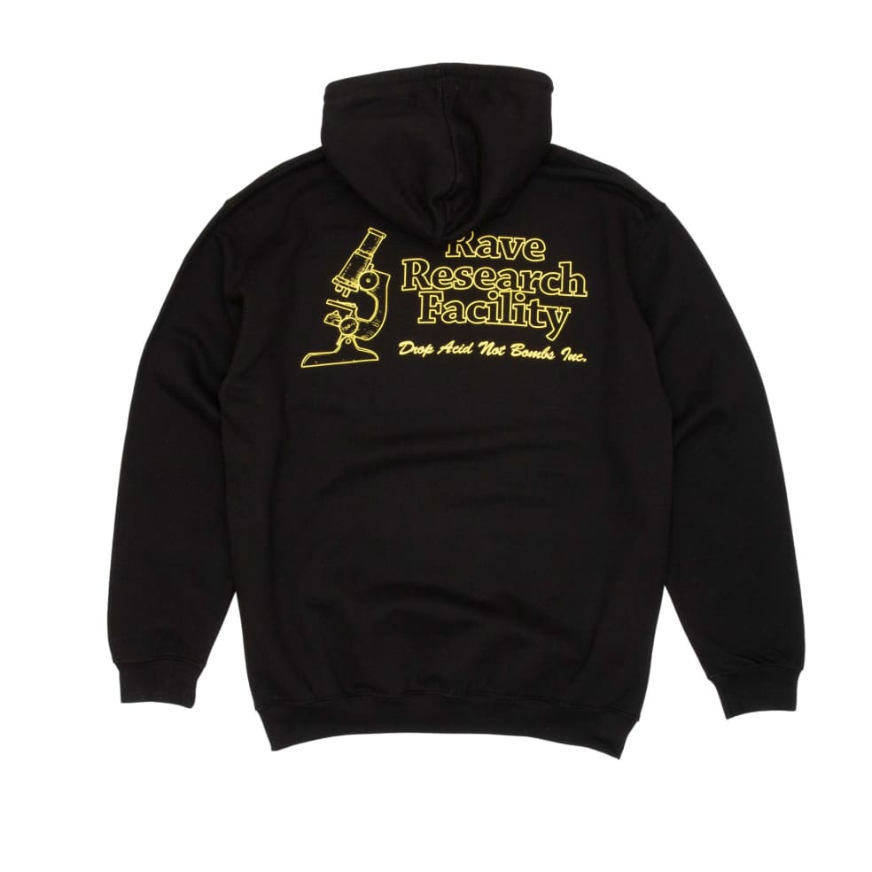 Rave Research Facility Hooded Sweatshirt - Black | Hoodie by Rave Skateboards 1