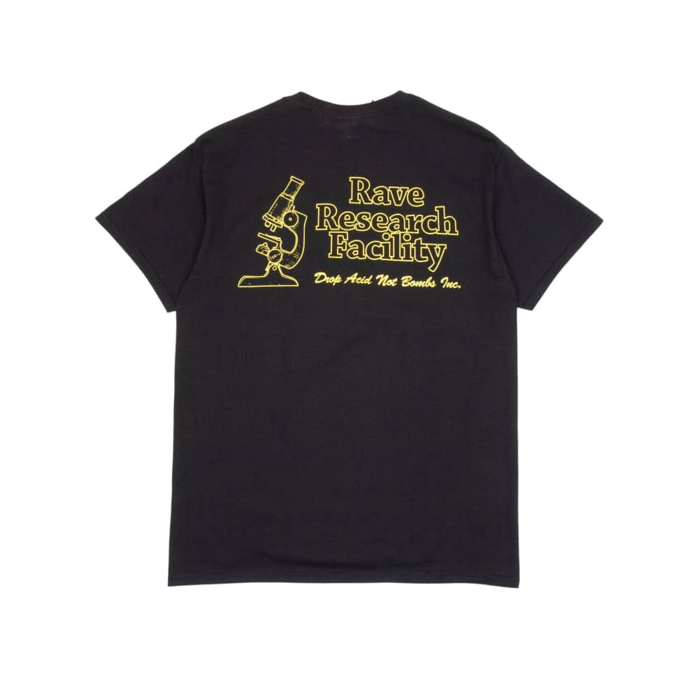 Rave Research Facility T-Shirt - Black | T-Shirt by Rave Skateboards 1