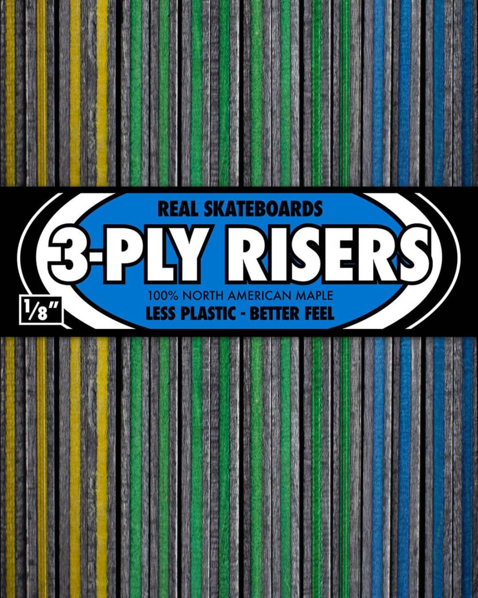 """Real Skateboards 3-ply Risers 1/8"""" 