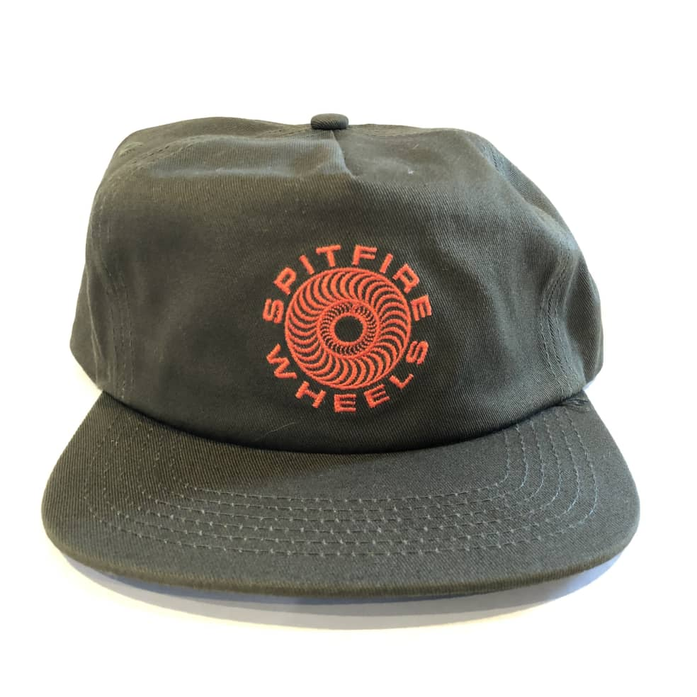 Spitfire Classic 87 Swirl Snapback Hat - Olive/Red   Snapback Cap by Spitfire Wheels 1