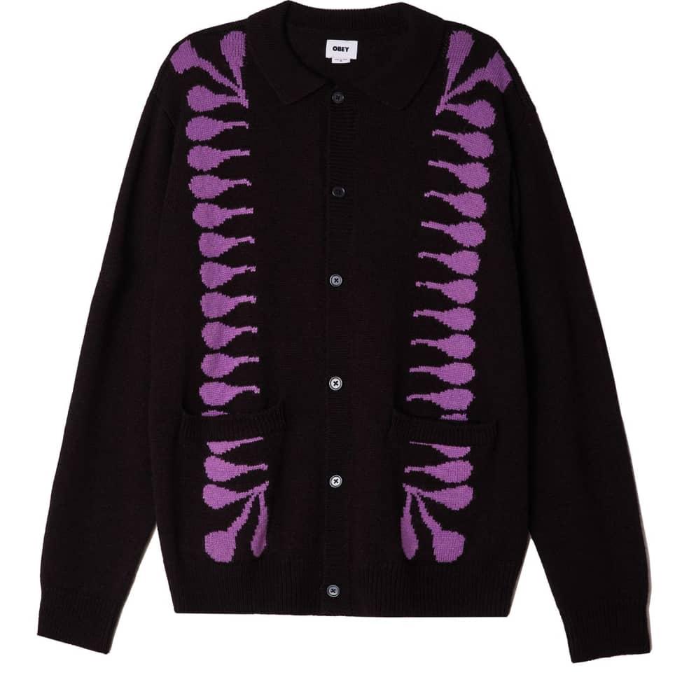 OBEY Clothing - Souvenirs Cardigan - Black/Multi   Cardigan by OBEY Clothing 1