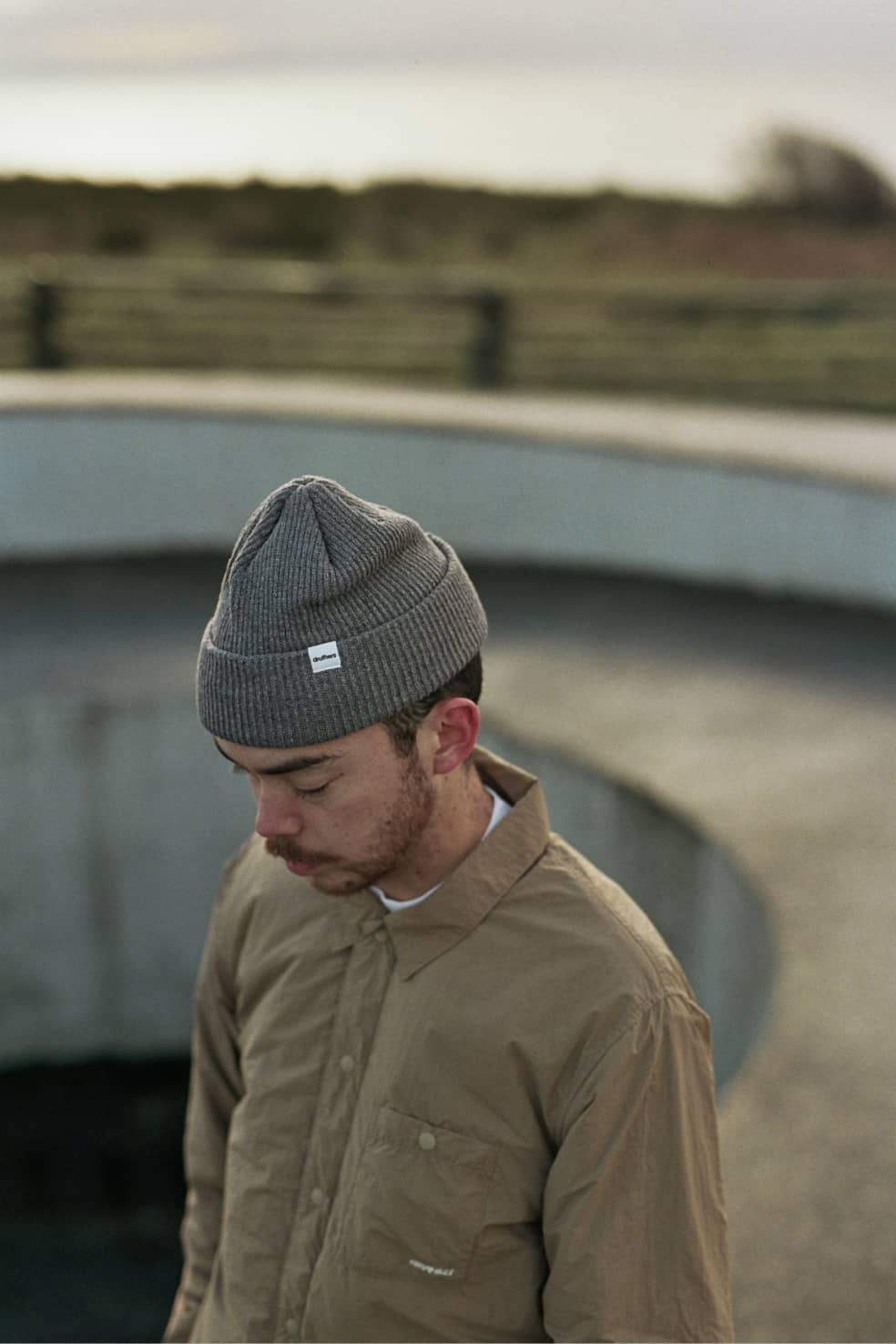 Recycled Cotton Knit Beanie Charcoal | Beanie by Druthers NYC 2