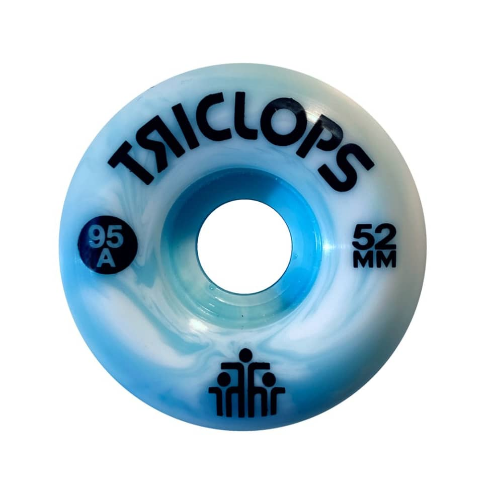 Triclops Wheels   52mm/95a - Blue Marbles Conical   Wheels by Darkroom Skateboards 1