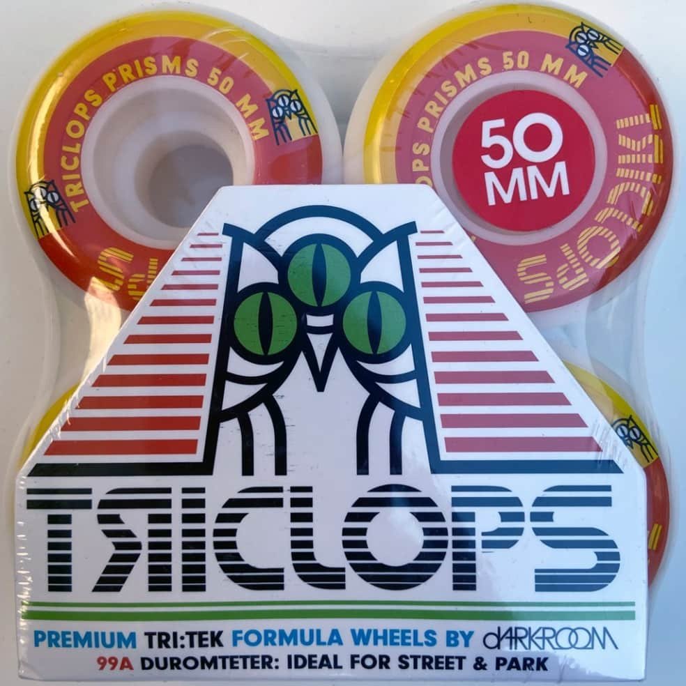 Triclops Wheels   50mm/99a - Prisms Conical   Wheels by Darkroom Skateboards 2