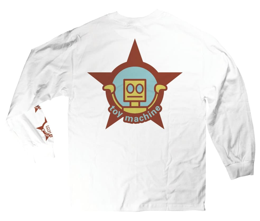 Toy Machine Robot Star Long Sleeve Tee White | Longsleeve by Toy Machine 1