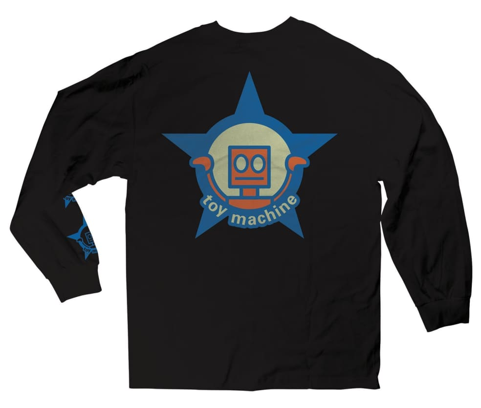 Toy Machine Robot Star Long Sleeve Tee Black | Longsleeve by Toy Machine 1