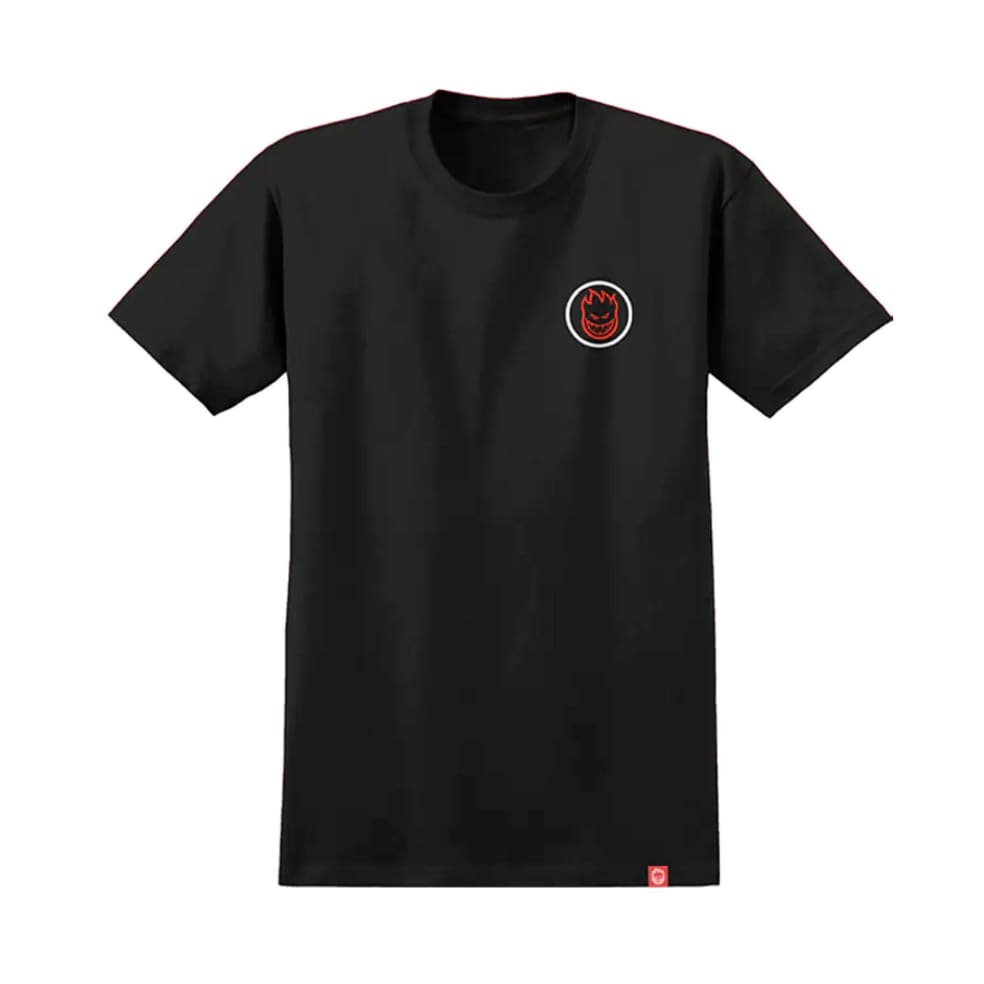 Spitfire Wheels Classic Swirl Fade Black/Red Tee | T-Shirt by Spitfire Wheels 1